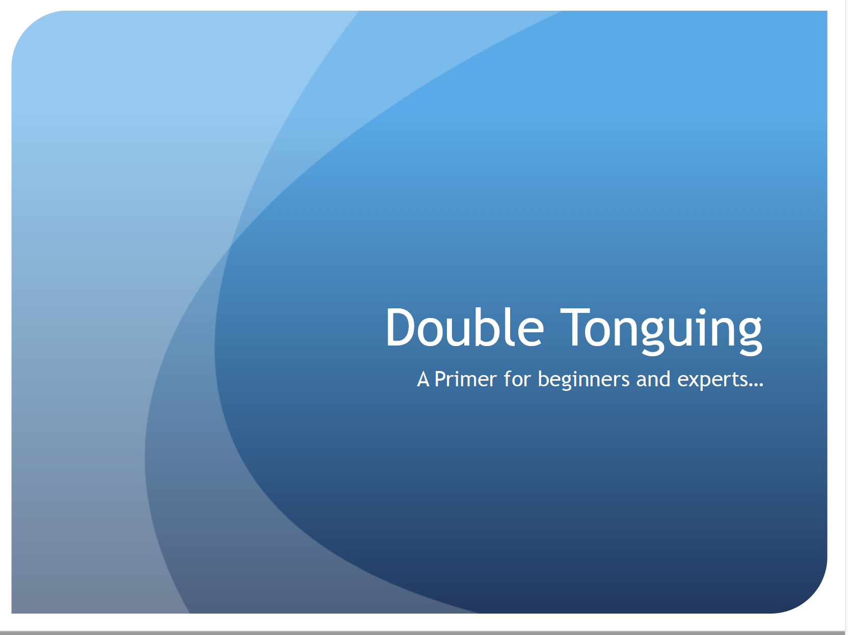 Double Tonguing Tutorial