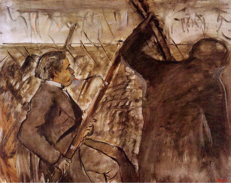 Degas opera bassoonist study